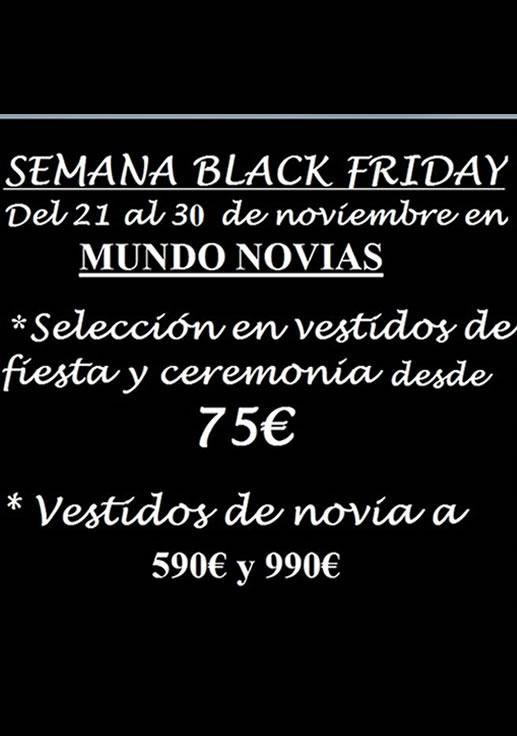 BLACK FRIDAY MUNDO NOVIAS